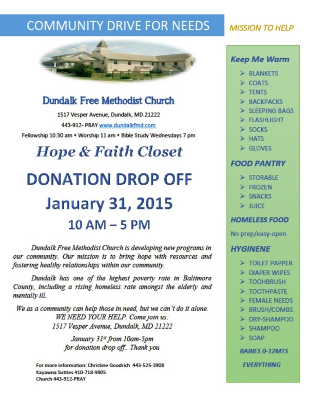 Community Drive Flyer